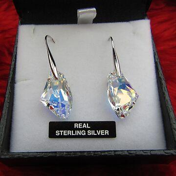 Beautiful Crystal Ear-rings by lezvee