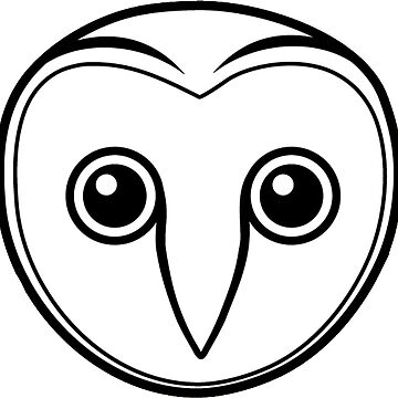 Outline of a Barn Owl's face by Dalyn