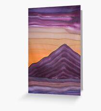 Sunset behind Glastonbury Tor Greeting Card