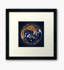 Night foxes Framed Print