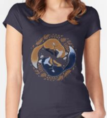 Night foxes Women's Fitted Scoop T-Shirt