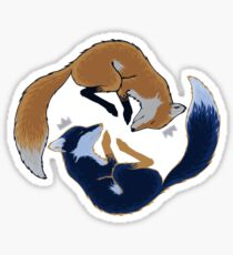 Night foxes Sticker