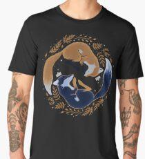 Camiseta premium para hombre Zorros nocturnos