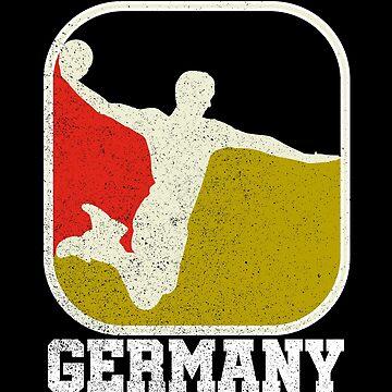 Retro Handball Fan Shirt Germany Shirt for handball and handball fans by LuckyU-Design