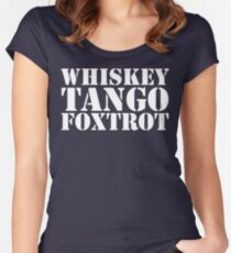 Whiskey Tango Foxtrot WTF Military Phonetic Alphabet T Shirt Women's Fitted Scoop T-Shirt