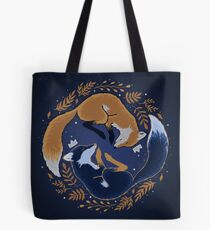 Night foxes Tote Bag