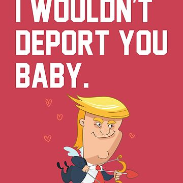 I Wouldn't Deport You Baby / Love / Romance / POTUS / Valentine's Day / Boyfriend / Sweet / Cuddle / Hug / Girlfriend / Family / by larspat