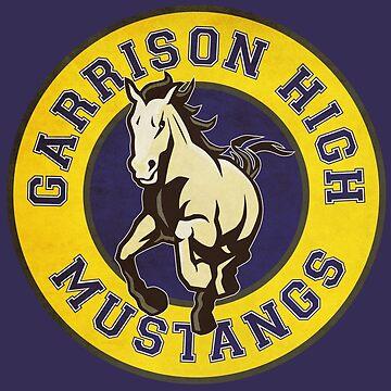 Garnison High Mustangs Logo von mctees