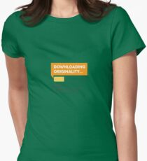 Downloading Originality Women's Fitted T-Shirt