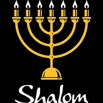 Shalom (Menorah / Judaism / 2C) by MrFaulbaum