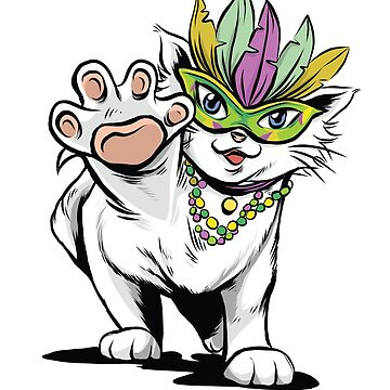 Mardi Gras Cat Comedy  by litteposterco