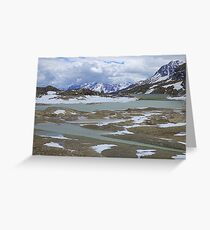 Glaciers on the Bernina Pass  Greeting Card