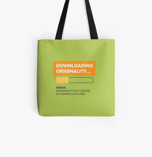 Downloading Originality All Over Print Tote Bag