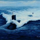 USS Pasadena  by William H. RaVell III