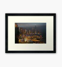 Hong Kong Downtown Framed Print