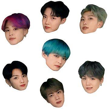 Adorable conjunto de pegatinas BTS lindo de KpopTokens