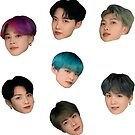 «Adorable conjunto de pegatinas BTS lindo» de KpopTokens