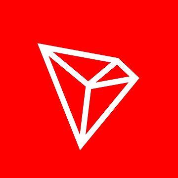 Tron (TRX) White Logo - Crypto Aesthetics  by activeyou