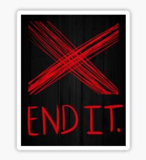 End it movement. Sticker