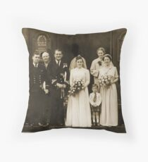 Mum and Dad, September 27th, 1952 Throw Pillow