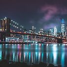Brooklyn Bridge NYC (Miami Vice Tones) by TPRVisuals