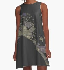 Isometric view of Mallorca map A-Line Dress