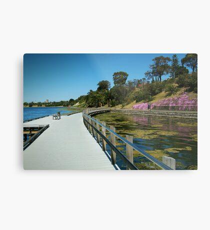 Rippleside Board Walk, Geelong Metal Print