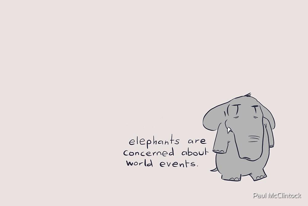 elefants #2 by Paul McClintock