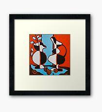 Frasier's Vases Framed Print