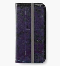 USGS TOPO Map Louisiana LA Downsville South 20120413 TM Inverted iPhone Wallet/Case/Skin