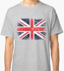 Vintage UK British Flag design Classic T-Shirt