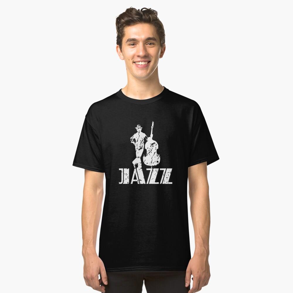 JazzWorldQuest-Jazz Bass Musician Modern Style  Classic T-Shirt Front