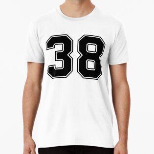 38 Número clásico de Jersey de deporte clásico de fútbol americano ... a7842346be5