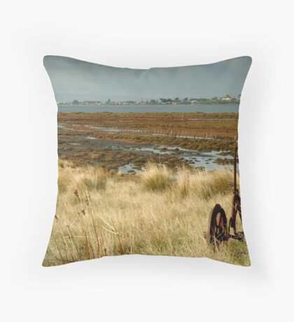 Beacon Point, view to Queenscliff Throw Pillow