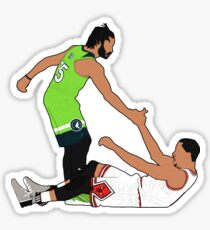 Derrick Fell Derrick Rose Sticker