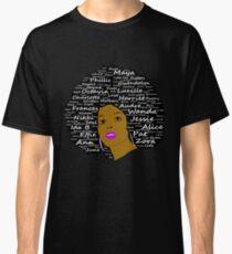 Black History Month Leistungsstarke Autoren Natural Hair Afro Art Classic T-Shirt