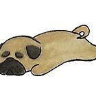 «pug soñoliento» de stickersnstuff