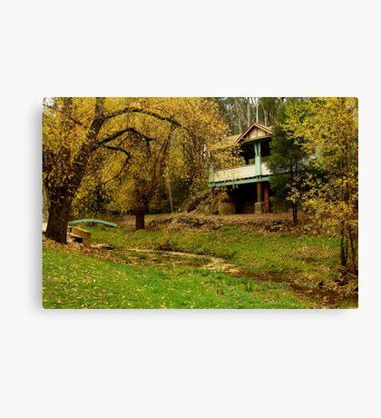 Autumn, Central Springs, Daylesford Canvas Print