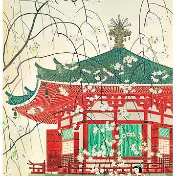 Japan Vintage Travel Poster Restored by vintagetreasure
