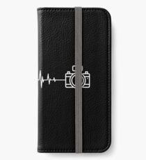 Camera photographer heartbeat design iPhone Wallet/Case/Skin