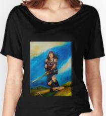 Female Warrior  Women's Relaxed Fit T-Shirt
