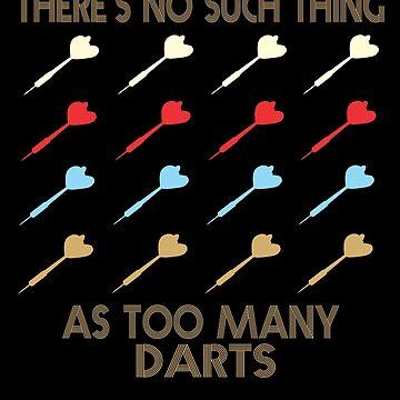 Darts Retro Vintage 1970's Style by funnyguy