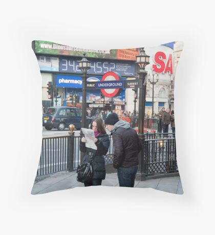 Lost in Piccadily Circus: London. UK. Throw Pillow