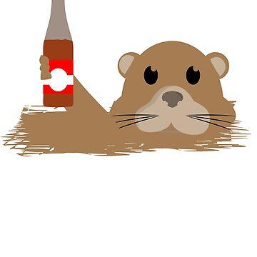 Otter t shirt by 3familyllc