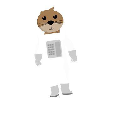 Otter Naut T shirt by 3familyllc