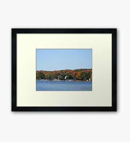 Colors on lake Geneva Framed Print