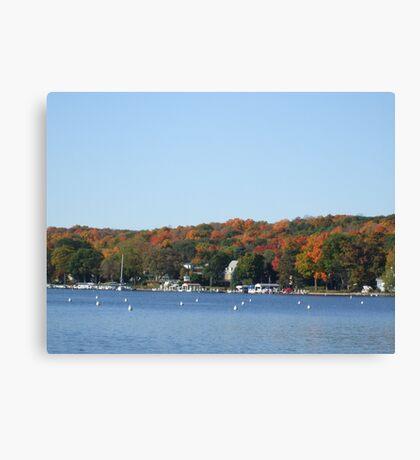 Colors on lake Geneva Canvas Print