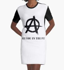 See You In The Pit Punk Rock Anarchy Graphic T-Shirt Dress