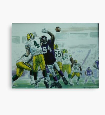 Favre vs Vikes Canvas Print