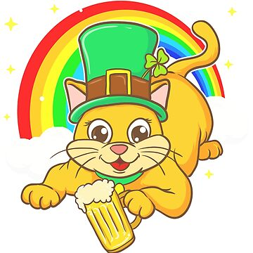 Irish Cat Leprechaun Beer St. Patrick's by frittata
